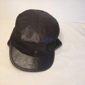Vintage leather cap